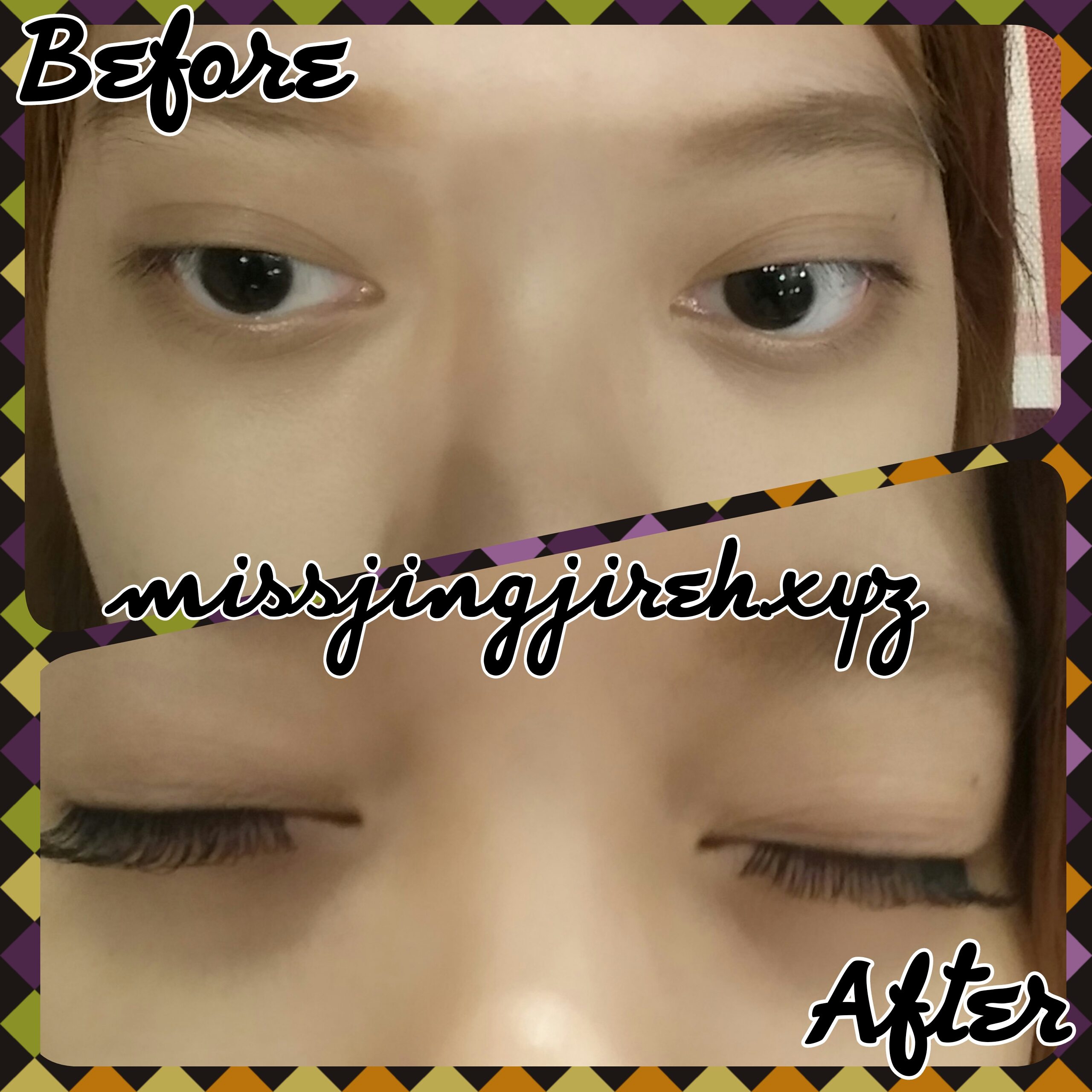 bf66d662c4e Quick comparison of before and after shots. The extensions made my lashes  look fuller and